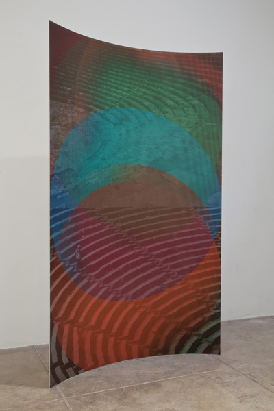 <br >Lenticular print on curved aluminum<br >72 3/4 x 42 x 6 7/10 inches<br >Edition of 2 with 1 AP<br >Installation view, Benevento, Los Angeles, CA, 2012<br ><br >